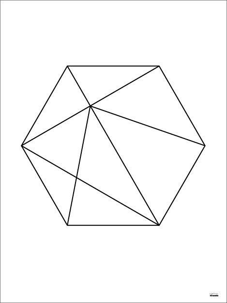 Hexagon black.