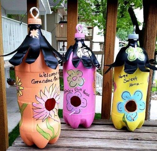 90 Ideen zum Basteln mit Plastikflaschen: So macht Recycling Spaß  – Basteln