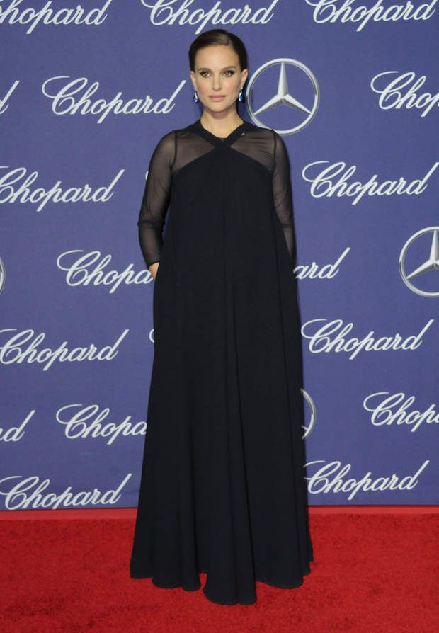Natalie Portman très enceinte, le 2 janvier 2017 Natalie Portman enceinte lors de la soirée de gala du festival international du film de Palm Springs au centre de congrès de Palm Spring, Californie, Etats-Unis, le 2 janvier 2017.