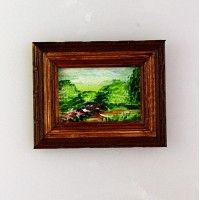 Miniature Painting - Landscape with Riverbank