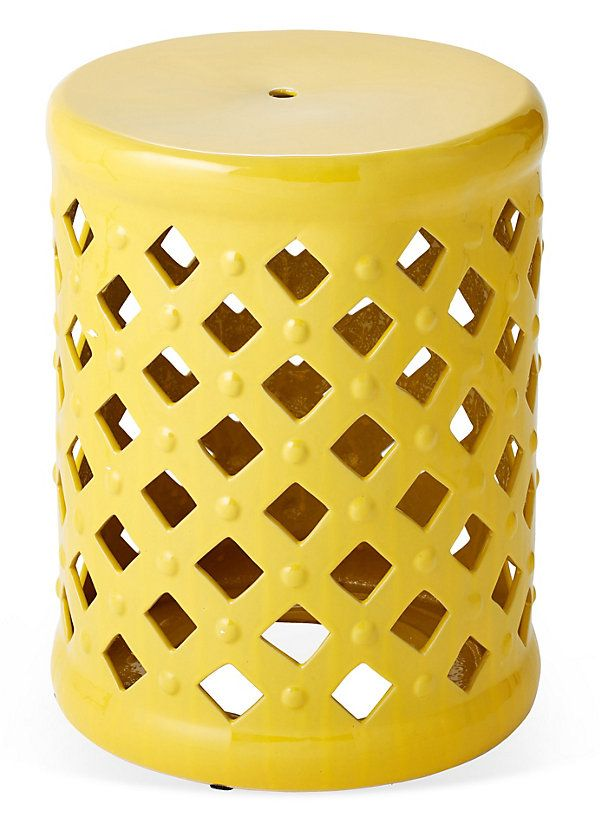 Madison Garden Stool, Mustard | Affordable Finds | One Kings Lane
