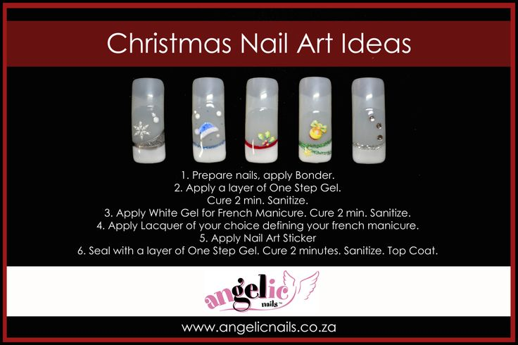 Simple yet effective Christmas Nail Art Ideas #gelnails #handpainted #nailart #christmas