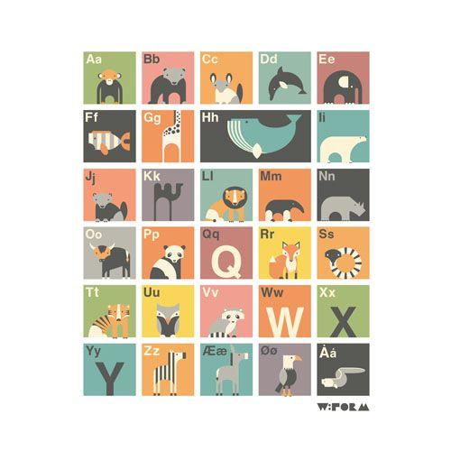 Her finder du en super flot plakat til børneværelset. Med denne plakat får du mulighed for at lære dit barn alfabetet, lære at bruge store og små bogstaver, og lære dyrenavne med de respektive bogstaver. Denne ABC-plakat er et kæmpe hit på børneværelser landet over. Med det moderne design som flirter med 50′erne og 60′erne, skaber [...]