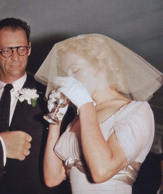 Marilyn Monroe on her wedding day.