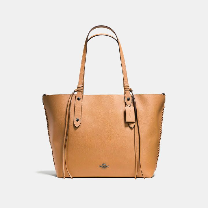 Coach Large Market Tote With Whiplash Detail