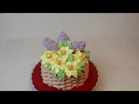 весенний торт с сиренью и нарциссами .Торт к 8 марта - YouTube