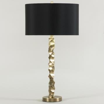 (H) Liam Table Lamp, Black Shade, 3-way 150W