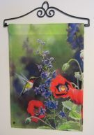 Garden Flag Stand | Garden Flag Wall Hanger is a great way to display your garden flags ...