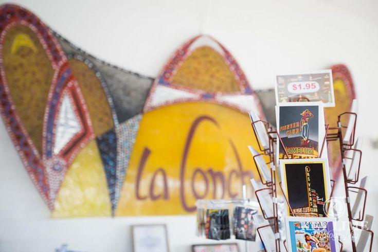 Postcards inside the La Concha lobby museum store at the Neon Museum Las Vegas