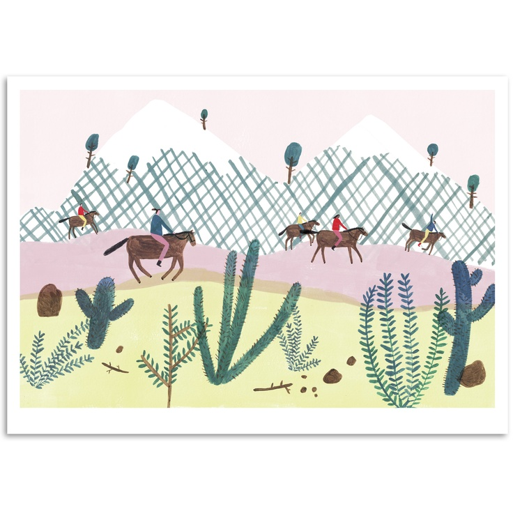 We cant wait to receive our first limited run of prints back from the printers and get some photos up on the shop. Here's one of them - 'Horse Trekking in the Andes' by Charlotte Trounce. We'll be getting all of our prints up this week