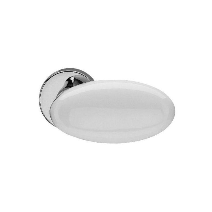 Dørgreb blank krom hvid emalje - Dørhåndtag Fusital H315 - Design Pierluigi Cerri - Køb online