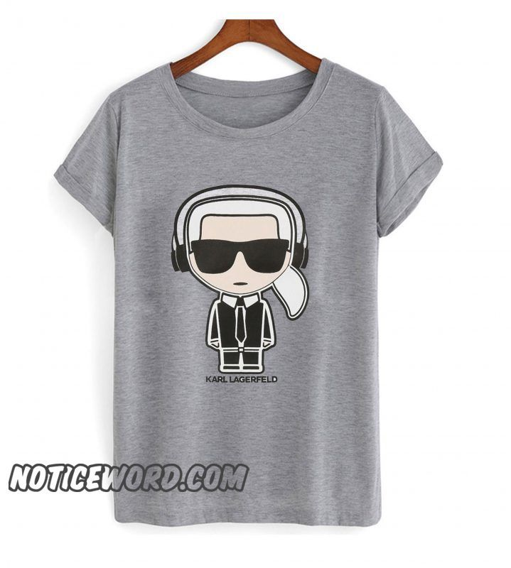 Karl Lagerfeld Earphone Smooth T Shirt Cool T Shirts Stylish Tshirts T Shirt