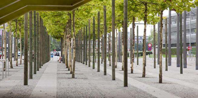 Tuinontwerp openbare ruimte Justitiepaleis Antwerpen | Wirtz Landschapsarchitecten