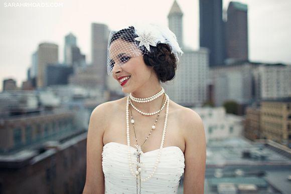 Flapper wedding style