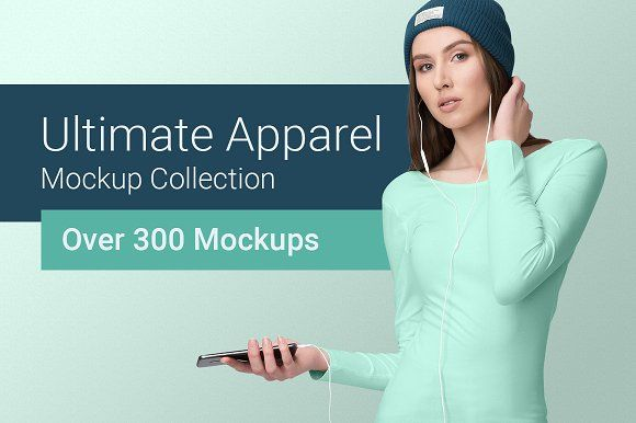 Ultimate Apparel Mockup Collection A huge collection of highly customizable and easy-to-use clothing mockups. Save Time & Money - 300+ mockups: t-shirt, polo, tank top, hoodie, sweater, and many more styles! All you need to create beautiful presentations, instantly. Check out everything that's included: https://goo.gl/i8zJfH 3 in 1 Presentation - Showcase your design in 3 different modes: on models, flat lay or hanging. Not only that, but you can choose from a handy set of fashion…