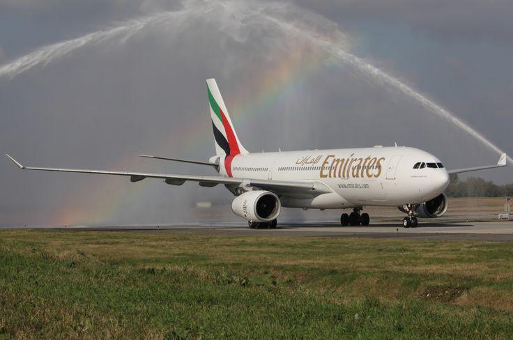 Hello Emirates | Hello Budapest. Emirates EK 111 inaugural flight to Budapest (DXB - BUD - DXB). credit: AIRportal  #BUDapest #dubai #emirates #flight #Travel2Budapest