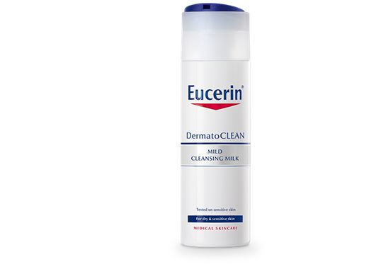 Eucerin DermatoCLEAN Mild Cleansing Milk For dry skin  This mild but effective cleanser removes impurities and make-up and helps skin to maintain its natural moisture balance.