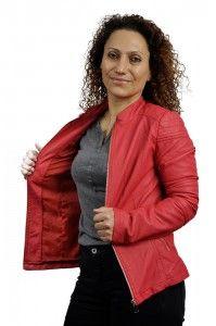 Propozycja wiosennej kurtki damskiej, Więcej na :http://www.streetstyle.net.pl/pl/p/Kurtka-damska-eko-skora-koral-/69