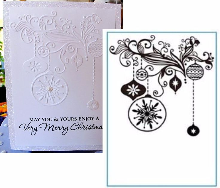 Christmas Decorations HSFC003  embossing folder Crafts Too Embossing Folders #CraftsToo