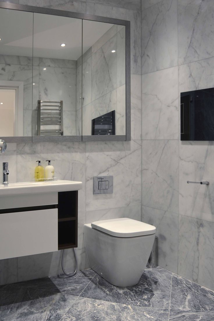 White and Grey Master En-suite | JHR Interiors