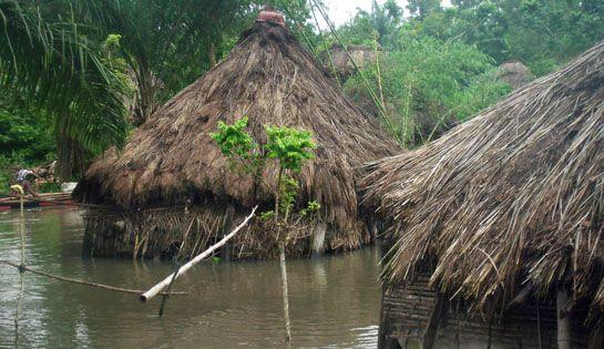Coincée entre 2 rivières, la localité de Togbota est victimes chaque année de crues spectaculaires qui n'épargnent évidemment pas le dispensaire actuel. #benin #togbota #action