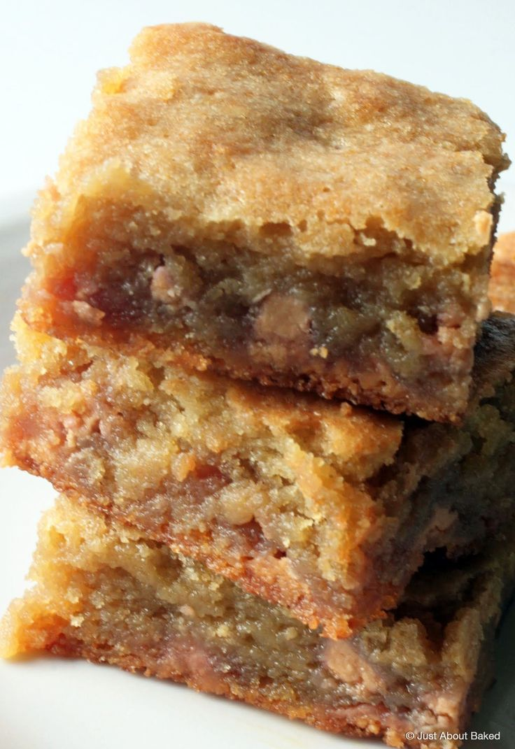Butterscotch bars are full of brown sugary goodness!