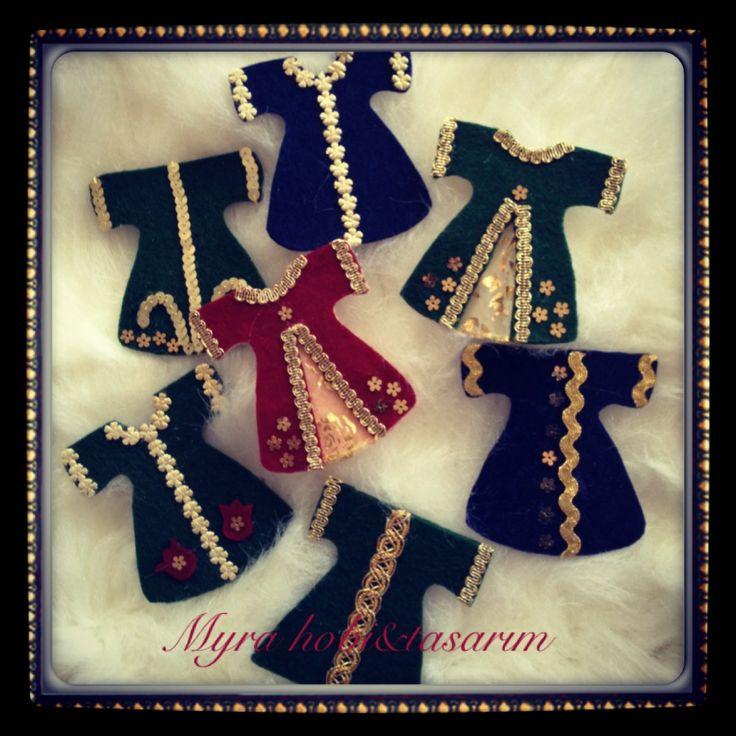 Keçe hediyelik magnet kaftanlar :)