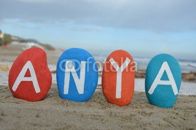 Anya, hungarian name of mother on colourful stones