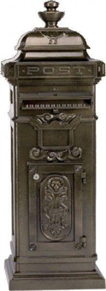 Casa Padrino Standbriefkasten Antik Jugendstil Bronzefarben Briefkasten Postkasten Mod4 - Säulenbriefkasten - schwere Ausführung! Luxus Briefkästen Standbriefkästen Standbriefkästen aus schwerem Aluguss