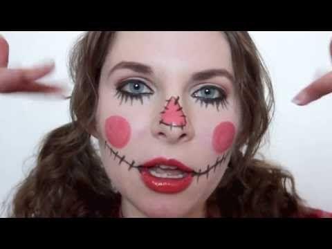 Cute Scarecrow Halloween Makeup Tutorial