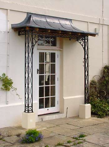 Regency Iron Porches, Canopies Lead Copper