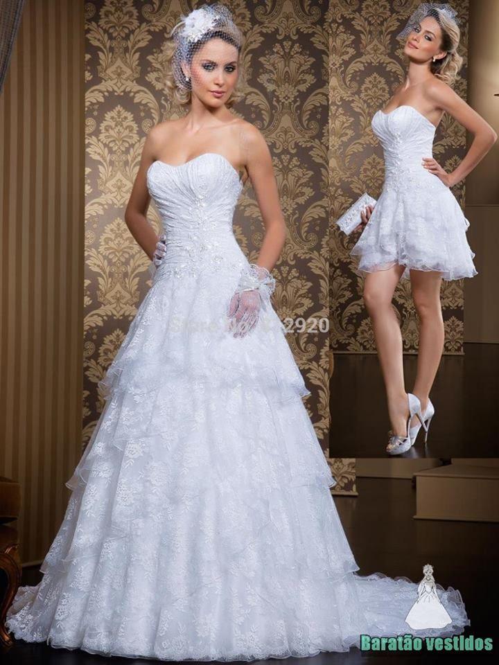 Vestido de renda para noiva com saia removíve]  VEJA MAIS ➸➸http://goo.gl/iyNHeK ☜☜