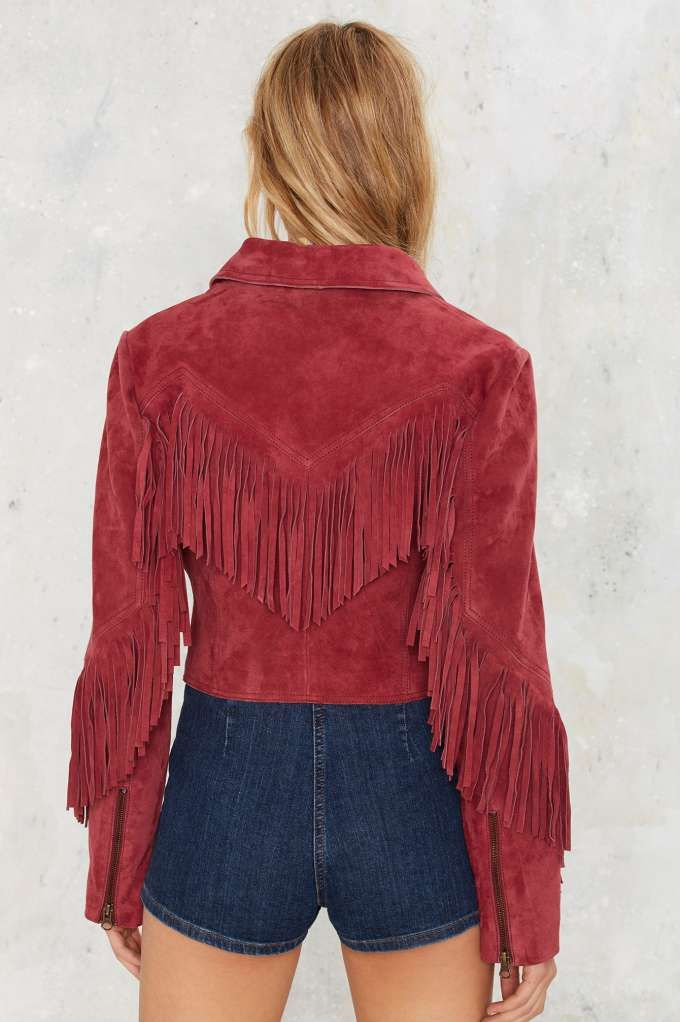 Nasty Gal Lodi Fringe Suede Jacket - Sale: 60% Off and Up | Jackets + Coats