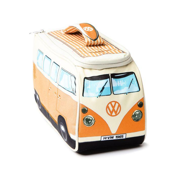 Volkswagen Camper Van Lunch Bag - Orange
