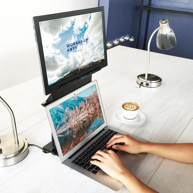 USBPowered Dual Monitor Laptop Stand