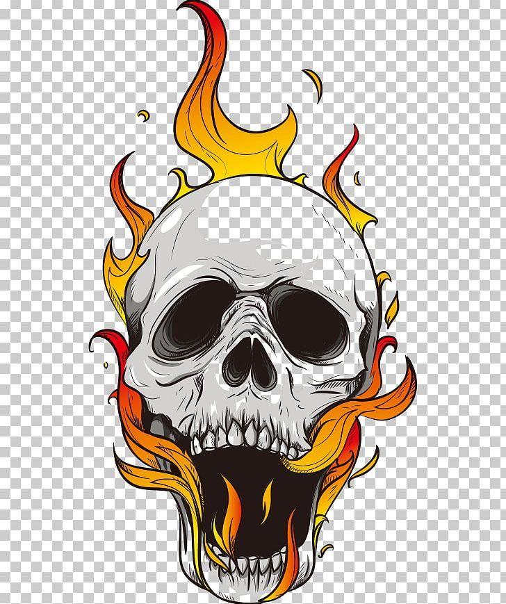 Flame Skull Computer File Png Adobe Illustrator Art Blue Flame Bone Cartoon Flame Skull Art Drawing Skulls Drawing Skull Illustration