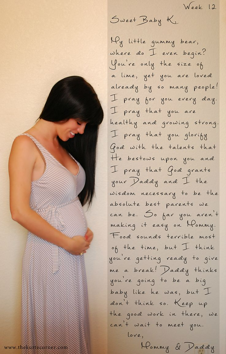 Instead of chalkboard facts, write a letter to your baby each week & take a picture to match!