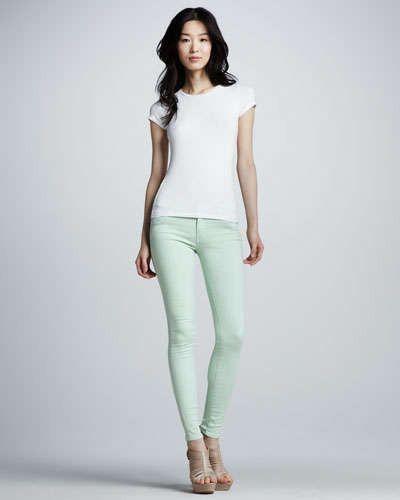 KORAL Skinny Pastel Jeans | Mint | Sale