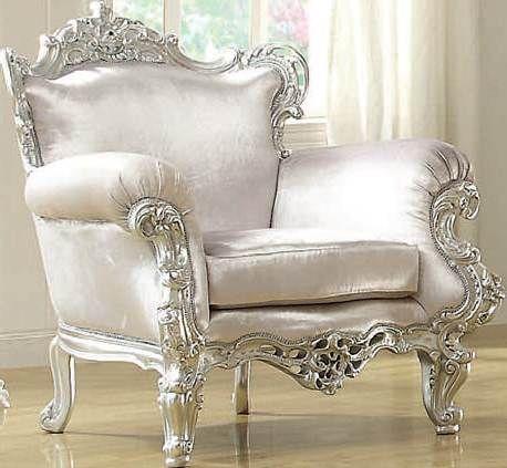 Neo Classic Glitzy Silver Accent Chair 59139