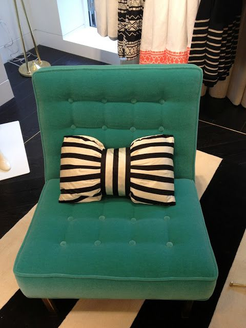 Kate Spade New York bow pillow... I need to figure out how to make this myself!  I dont think it would be too difficult :)