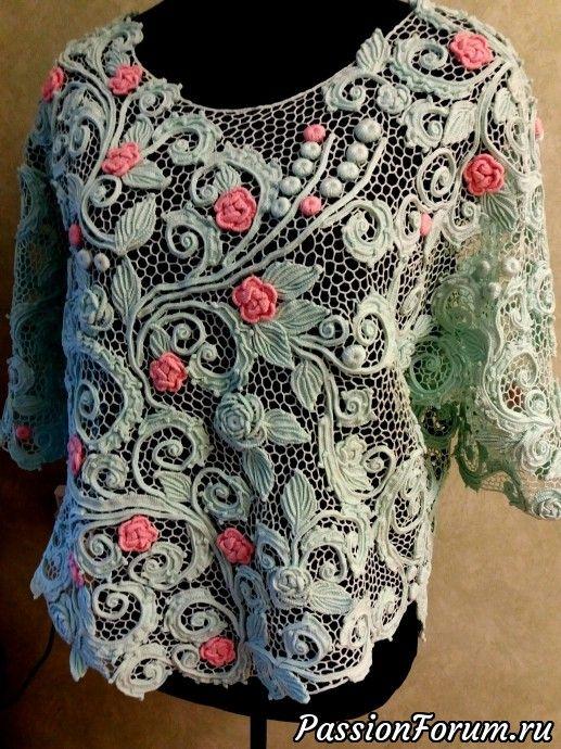 Блузы. Бохо стиль - запись пользователя Natali (Налалья) в сообществе Вязание крючком в категории Ирландское кружево