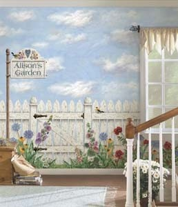 24 best Garden Mural images on Pinterest Garden mural Mural