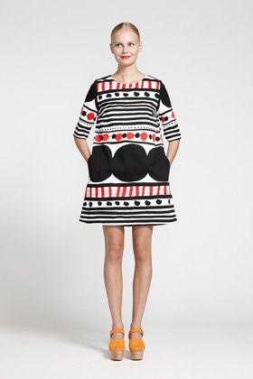 Apparel: Pihla in white, black, red | Marimekko Store