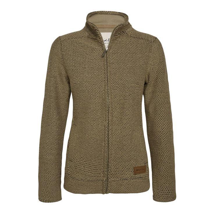 Grayling Full Zip Macaroni Sweatshirt Khaki