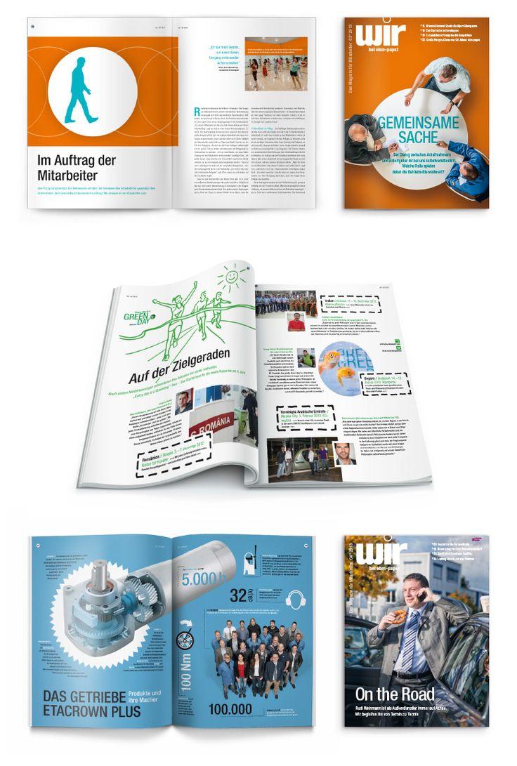 """Mitarbeitermagazin """"wir"""" von ebm-papst  Die wir° ist das Mitarbeitermedium für die gesamte ebm-papst Unternehmensgruppe. Die Zeitschrift fördert das Gemeinschaftsgefühl in der Belegschaft weltweit und transportiert mit vielfältigen Geschichten, Reportagen und Interviews die übergreifenden Unternehmenswerte."""