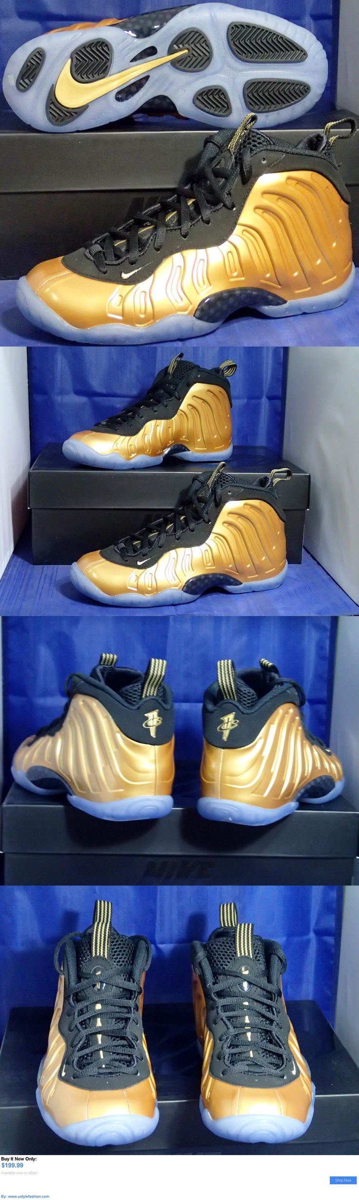 Children boys clothing shoes and accessories: Nike Little Posite One Foamposite Gold Black (Gs) Youth Sz 7Y ( 644791-700 ) BUY IT NOW ONLY: $199.99 #ustylefashionChildrenboysclothingshoesandaccessories OR #ustylefashion