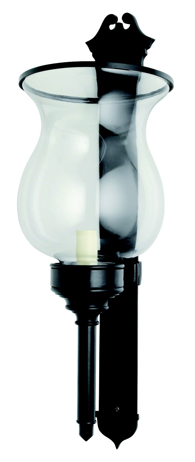 W4-043 - Large Wall Storm Light with Bell Shaped Glass, (shown in black bronze)