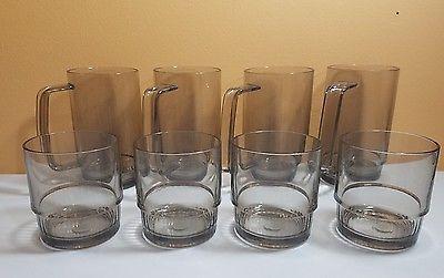 $41 Set-of-8-Tupperware-Acrylic-Tumblers-and-Mugs-Smoke ...
