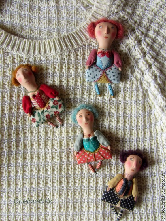 Купить Брошки-Принцесски - разноцветный, принцесса, кукла брошка, кукла…