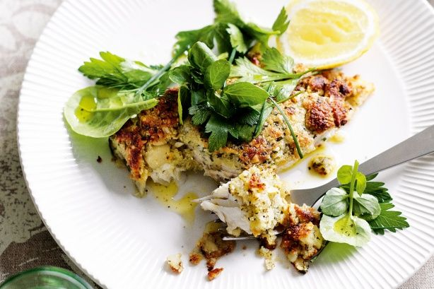 With a sprinkling of native spice and a generous helping of true blue flavour, this Macadamia-crusted fish with herb salad makes a perfect midweek dinner.